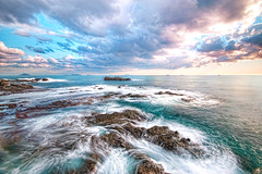 The move… (-TommyTsutsui- [nextBlessing]) Tags: blue winter light sea sky green nature rock japan clouds landscape movement nikon purple scenic wave shore 雲 冬 海岸 海 空 izu shimoda 波 伊豆 ndfilter 下田 newvision sigma1020 多々戸 磯 onsalegettyimages peregrino27newvision