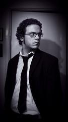 Suit 210/365 (spazmock) Tags: portrait bw white black self suit 365 selfie 365picesofme