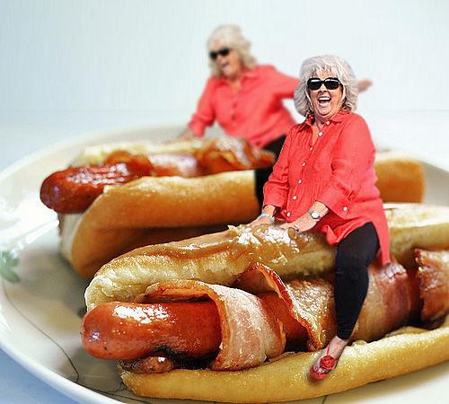 Paula Deen - Bacon Hot Dogs