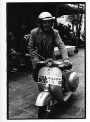 Very gentle scooterist (alessio.canepa) Tags: bw paper la pentax universit bn pisa pace per bianco nero carta lx foma scienze stampa