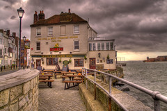 Still & West pub, Old Portsmouth, UK (Sterling750) Tags: old sea west island still pub inn harbour sony spice sigma portsmouth tone hdr slt mapped a35 18200mm photomatix
