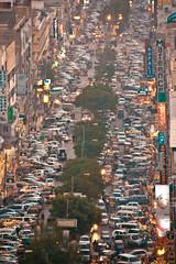 Usual traffic Jam at Tariq Road (Saifuddin Abbas) Tags: road roof top tariq