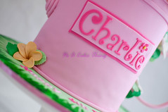 Charlie's watering can (Its A Cake Thing (Jho)) Tags: pink hibiscus hawaiiantheme frangipanis paintedcake wateringcancake