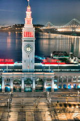 18:12 (Shawn Clover) Tags: sanfrancisco bridge building architecture bay financialdistrict baybridge embarcadero ferrybuilding recent hdr galleryplacesmyhometown