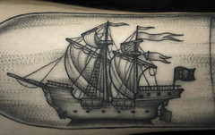 Barcquinho (taiom) Tags: boat bottle dotwork tattootaiombrasiliavanguardvct