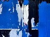 fase azul #2... (bruce grant) Tags: broadway tags cartazes obras novaiorque tapume rasgados apagados