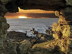 ST. MONANS new day (kenny barker) Tags: seascape composite sunrise landscape lumix person dawn scotland ruins fife historic stmonans newarkcastle panasonicg1 daarklands kennybarker