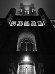 the red city hall ((noou)) Tags: november bw building berlin dark alexanderplatz gotham 2011