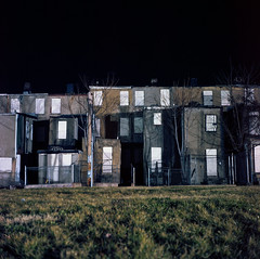 (patrickjoust) Tags: street city urban usa house color abandoned 120 6x6 tlr film home night analog america dark square lens us reflex md focus long exposure mechanical kodak empty united release tripod north patrick twin maryland cable row baltimore east mat negative 124g vacant after medium format 100 states manual middle 80 joust yashica rowhouse rowhome estados 80mm f35 ektar c41 unidos yashinon autaut patrickjoust ebdi eastbaltimoredevelopmentinc
