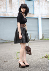 (Josselin Sinclar) Tags: leather skirt jupe cuir