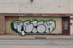 ceno (ExcuseMySarcasm) Tags: urban streetart eh graffiti unitedstates michigan detroit guerrillaart ceno ayem excusemysarcasm