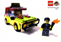Jurassic Park Car (Rick_3691) Tags: car lego jeep vehicle jurassicpark jeffgoldblum ianmalcolm