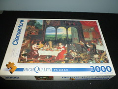"3000 piece puzzle, ""Taste, Hearing and Touch,"" by Jan Bruegel, Clementoni, Italy. (Billsville Mike) Tags: jigsawpuzzles 3000400050006000800090001200013200educanathanfalconclementoniravensburgerschmidtfxschmid"