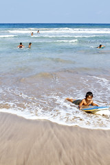 Beach Boy (laszlofromhalifax) Tags: ocean boy beach water hawaii sand sandy maui pacificocean kokibeach hamoavillage