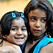 Friends! Little Indian children in Mumbay | India