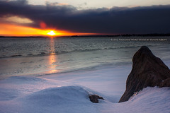 Chilly Sunrise (Thousand Word Images by Dustin Abbott) Tags: winter snow canada cold ice sunrise dawn naturallight m42 manualfocus ottawariver petawawa ontariocanada alienskinexposure canoneos60d smctakumar28mmf35m42 adobephotoshopcs5 thousandwordimages adobelightroom4