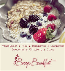 Berry Breakfast (Jennifer Falk) Tags: school summer food cute fruit breakfast america project dessert strawberry berries vanilla raspberries blackberries blueberries cocos msli