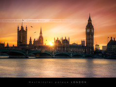 Westminster Palace, London (Beboy_photographies) Tags: sunset london thames de soleil big ben coucher bigben londres flare angleterre uni hdr coucherdesoleil tamise royaume