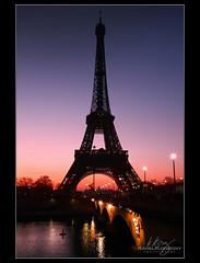 Paris - Eiffel Tower (palmer82) Tags: sunset paris france sunrise eiffeltower eiffel
