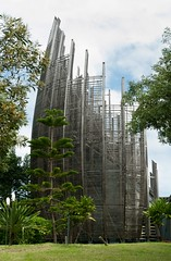 Renzo Piano - Tjibaou Cultural Center #4 (Ximo Michavila) Tags: wood sky abstract tree green nature lines architecture clouds centre culture newcaledonia renzopiano noumea tjibaou archidose archiref