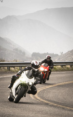 Ducati Action (Vatche.K) Tags: california red white black bike cali clouds la losangeles italian highway european cloudy angeles euro motorcycles bikes overcast sunny crest hwy socal moto motorcycle motor sportbike motogp ducati duc 916 alpinestars 848