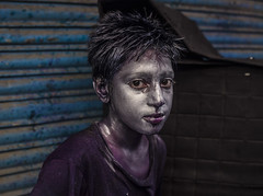 Colored Face (Hermaenos) Tags: portrait people color face purple can ash holi 6d vftw