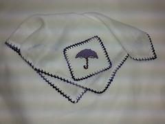 Fralda de Boca - Guarda Chuva Lilás F018 (SaluArts) Tags: de pano cruz infantil bebê boca ponto paninho fralda fraldinha enxoval