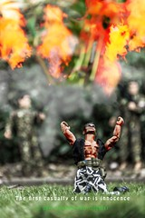 #15 of 30 April 2014, The first casualty of war is innocence (Dave Stocking) Tags: fire war shot explosion vietnam flame platoon actionman oliverstone thefirstcasualtyofwarisinnocence april2014amonthin30pictures