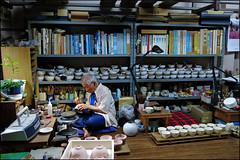 """The Artist in his Studio"" -- Kyoto, Japan (TravelsWithDan) Tags: portrait art japan painting studio kyoto ceramics artist painter"