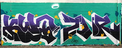 (BCalico) Tags: white chicago black yellow graffiti purple teal pano halo panoramic chi graff kwt gotel 2nr dkal kwt2nr 2nrkwt