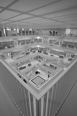 corner (DoubleE87) Tags: lines library books bcher linien bcherei geometrischeformen rechterwinkel fujixt1 samyangwalimex12mmf2