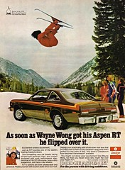 1976 Dodge Aspen R/T with Wayne Wong (aldenjewell) Tags: car freestyle wayne year ad award dodge motor trend wong aspen skier rt 1976