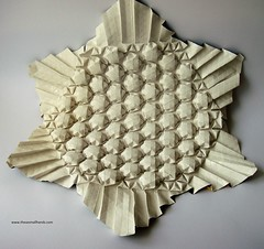 DSC01473 (thesesmallhands) Tags: sculpture paperart origami handmade arts homemade tessellation paperfolding