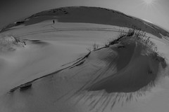 Neringai (to Neringa) (Mindaugas Buivydas) Tags: winter bw snow landscape shadows dunes fisheye february lithuania lietuva neringa kurinerija kurinerijanationalpark thecuronianspit kurinerijosnacionalinisparkas thedeaddunes