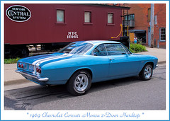1969 Chevrolet Corvair Monza (sjb4photos) Tags: chevrolet caboose ypsilanti depottown newyorkcentral 1969corvairmonza
