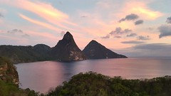 Saint Lucia , Pitons at Sunset (Lonfunguy) Tags: unesco caribbean stlucia pitons saintlucia