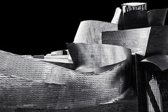 Bilbao, Mr. Gehry y yo (I) / Bilbao, Mr. Gehry and Me #1 (MiquelGP54) Tags: bilbao euskadi blackandwhitephotography architecturalphotography contemporaryarchitecture museoguggenheim arquitecturacontempornea fotografaenblancoynegro arquitectofrankogehry fotografaaruitectnica