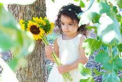 Gianna_0128 (Ciara*) Tags: girl kid toddler smiles cutie niece sunflower