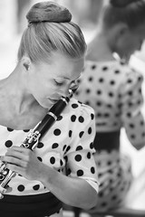 Clarinettist (photoaffaire) Tags: light portrait music beautiful outdoor blonde clarinet available musican clarinette