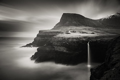The Abyss (mike-mojopin) Tags: longexposure blackandwhite seascape fineart le faroeislands