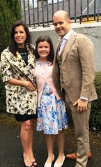 Proud parents Michelle Browne and Colin Murphy with their daughter Ellen on Confirmation Day (ballymorebugle) Tags: ballymorebugleballymoreeustace kildare ireland