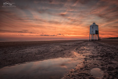 Burnham-on-Sea Low Lighthouse (Chris Sweet Photography) Tags: sunset sky lighthouse seascape water sand nikon sigma somerset burnham goldenhour