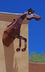 Mountainair, Torrance Co., New Mexico. (cbrozek21) Tags: sculpture newmexico art metalsculpture mountainair horsesculpture