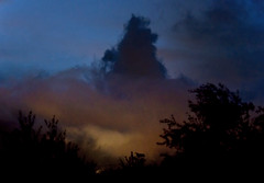 Mysteries (nokkie1) Tags: blue sunset italy orange black clouds darkness silhouettes mysteries lastlight rovereto