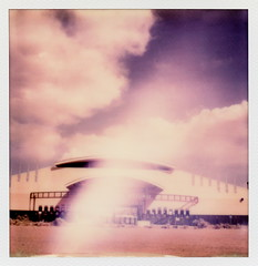 Hollywood Hills Speedway (tobysx70) Tags: santa new light toby color film clouds race project mexico polaroid sx70 photography for san track pueblo 66 hills route tip cameras hollywood type instant fe sonar hancock nm leak felipe rt rte motorsport speedway impossible the sx70sonar polawalk impossaroid 061414