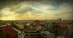 Rooftop views (Мaistora) Tags: world life old city morning roof sky urban panorama orange painterly color colour tower history yellow mobile clouds sunrise buildings turkey painting fire gold cosmopolitan colorful paint phone dynamic vibrant minaret painted sony sonyericsson horizon fake cellphone dramatic istanbul mosque roofs explore busy filter blended colourful process multicultural drama effect postprocess galatasaray stitched sweep hdr beyoglu android app edit mosques blend galata x10 incamera thriving multiethnic hdrlike maistora xperia picsay inphone explored1dec11