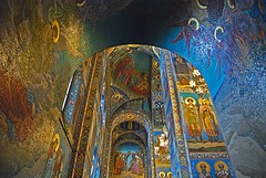 Cathedral of the Spilled Blood Interior [Explored 12/1/11] (trishhartmann) Tags: stpetersburg russia 343 explored i500 cathedralofspilledblood