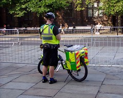 Bike Responder in Chester July 2009 (DizDiz) Tags: uk england cheshire chester emergency paramedic olympusc720uz countytown
