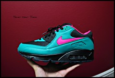Nike Air Max 90 iD (Never Wear Them) Tags: pink black max beach am mesh teal air south id nike bubble custom 90 sb nikeid preheat am90