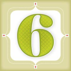 day 6 (One Little Bird Studio) Tags: christmas 6 green art illustration design graphicdesign blog artwork graphics pretty pattern colours calendar decorative seasonal digitalart number illustrator etsy numeral adventcalendar six onelittlebird blogadventcalendar
